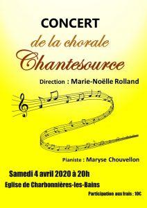 Concert du 4 avril 2020 à Charbonnières les Bains
