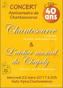 Concert du 22 mars 2017 salle Alpha à Charbonnières les Bains.